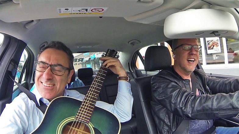 Nick im Taxi mit Jan Malte Andresen